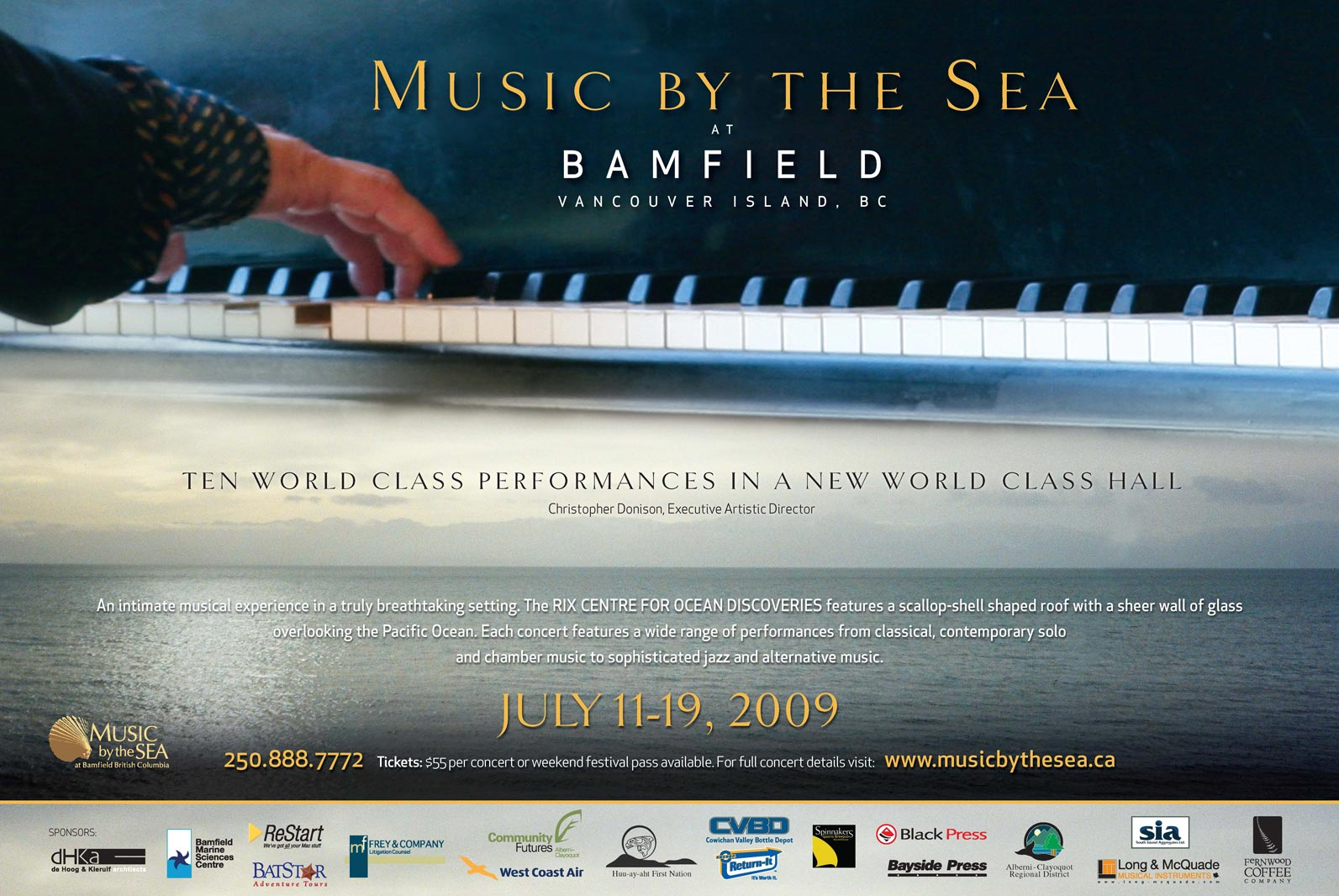 Music by the Sea 2009 poster
