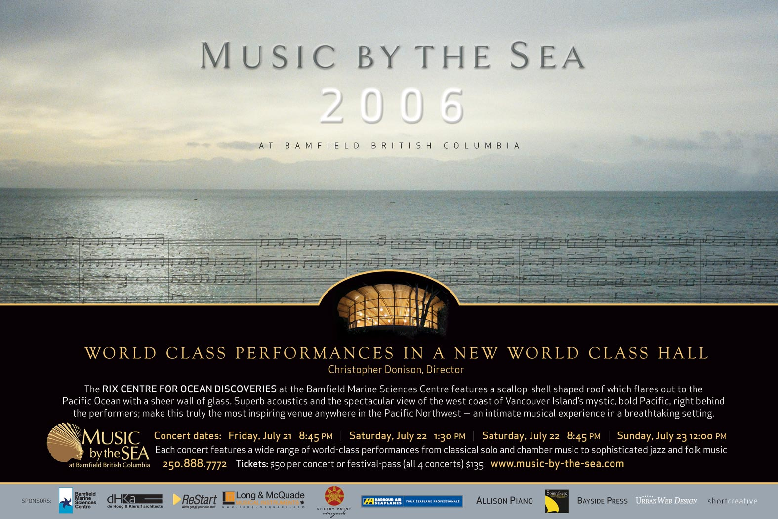 Music by the Sea 2006 poster