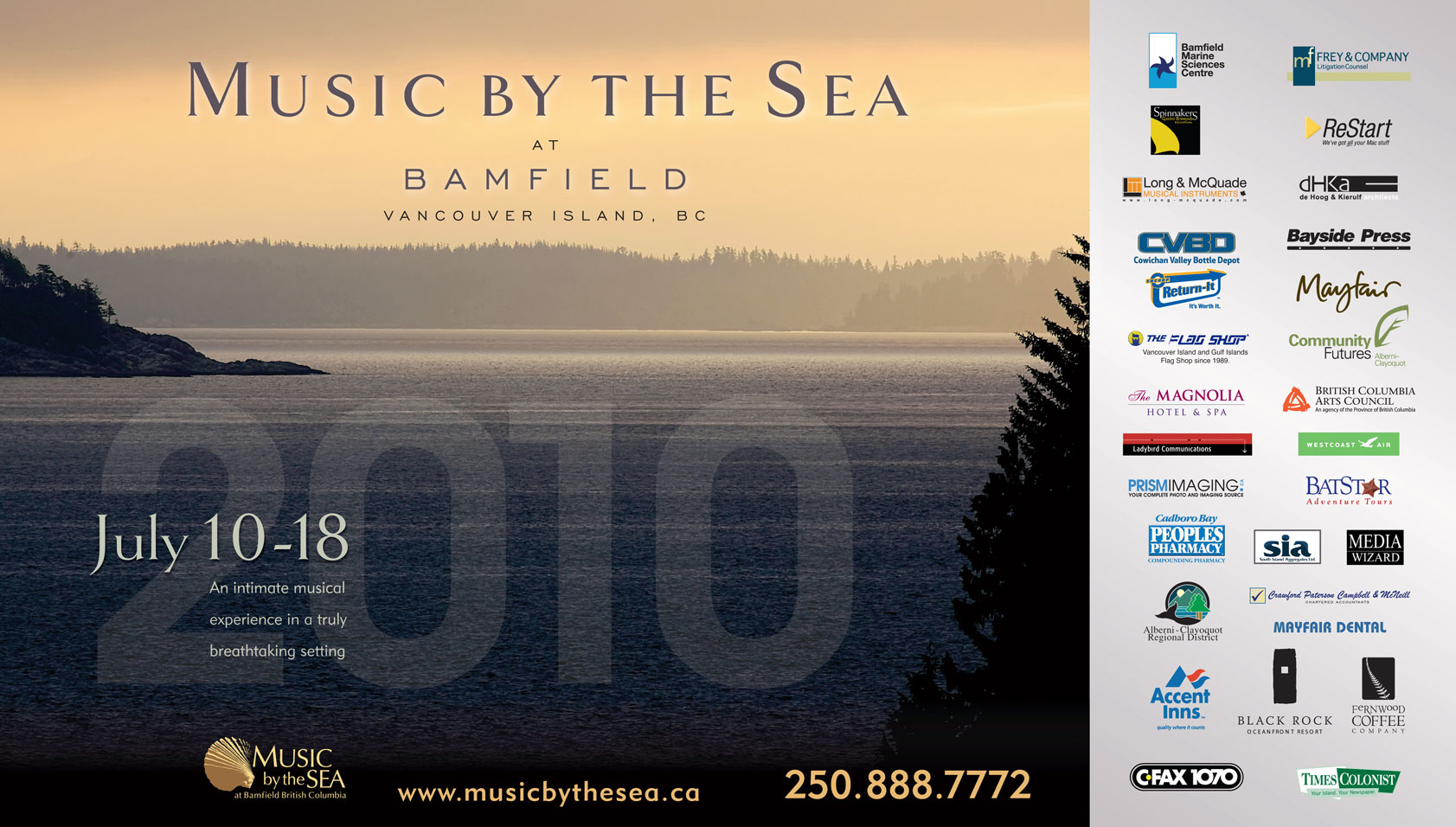 Music by the Sea 2010 poster