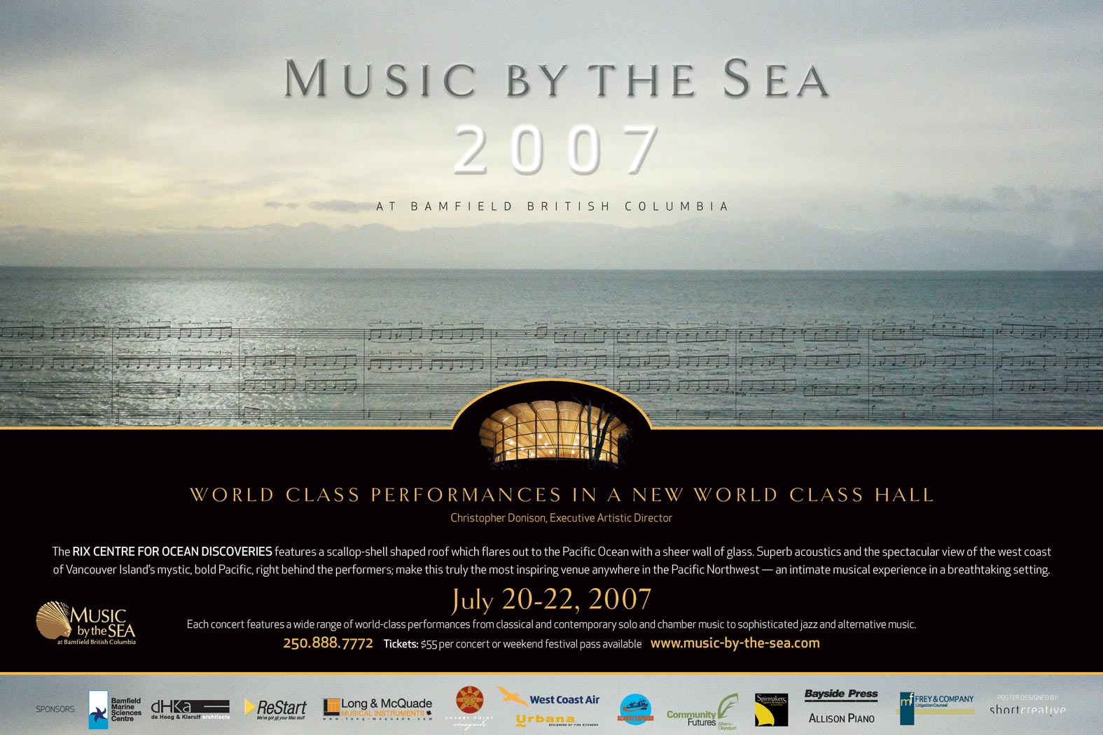 Music by the Sea 2007 poster