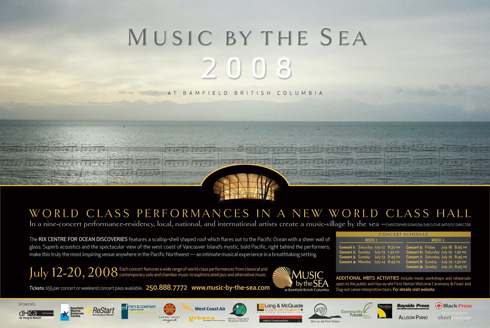 Music by the Sea 2008 poster