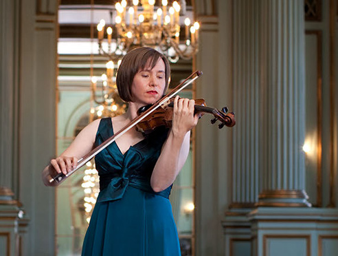 Cecily Ward playing the violin