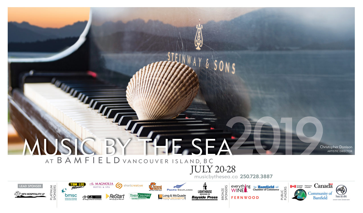 usic by the Sea 2019 season poster